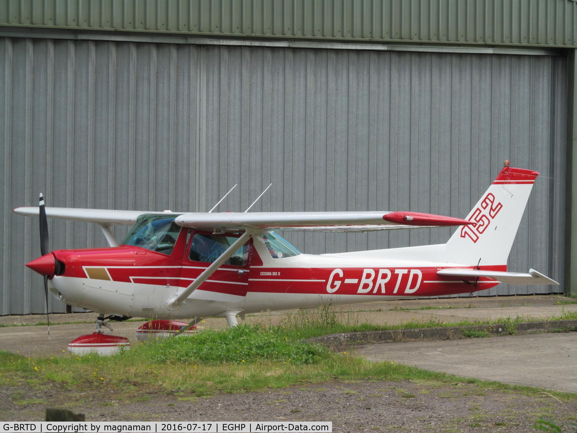G-BRTD, 1977 Cessna 152 C/N 152-80023, just landed
