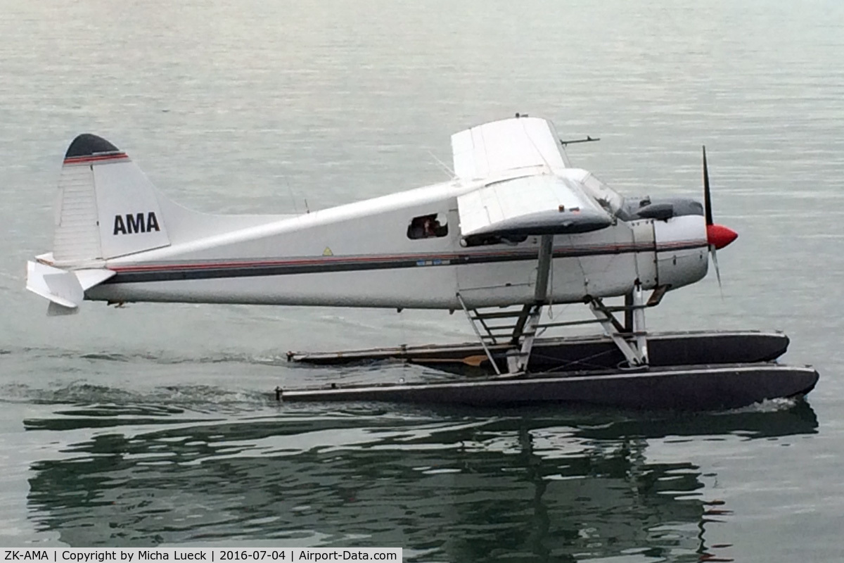 ZK-AMA, 1963 De Havilland Canada DHC-2 Beaver Mk.1 C/N 1477, In the Viaduct harbour in Auckland