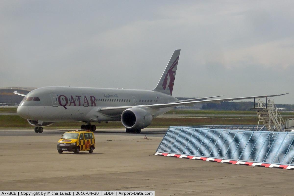 A7-BCE, 2013 Boeing 787-8 Dreamliner C/N 38323, At Frankfurt