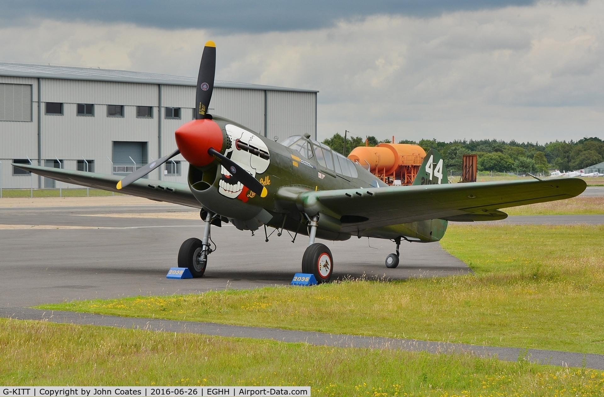 Aircraft G-KITT (1943 Curtiss P-40M Warhawk C/N 27490 ...