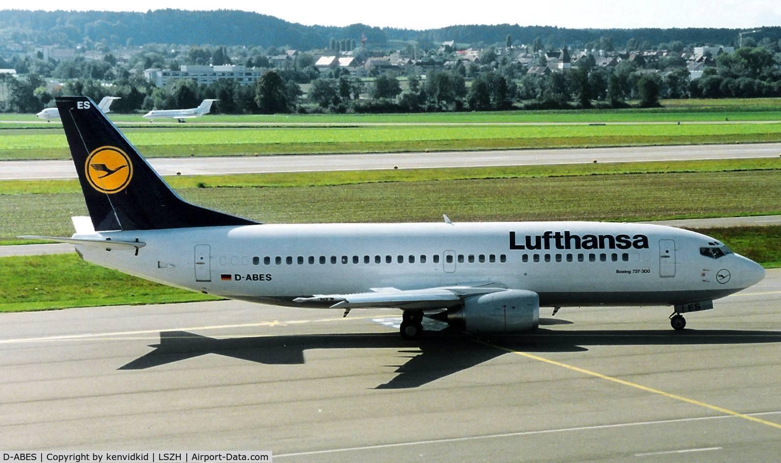 D-ABES, 1992 Boeing 737-330 C/N 26432, Lufthansa