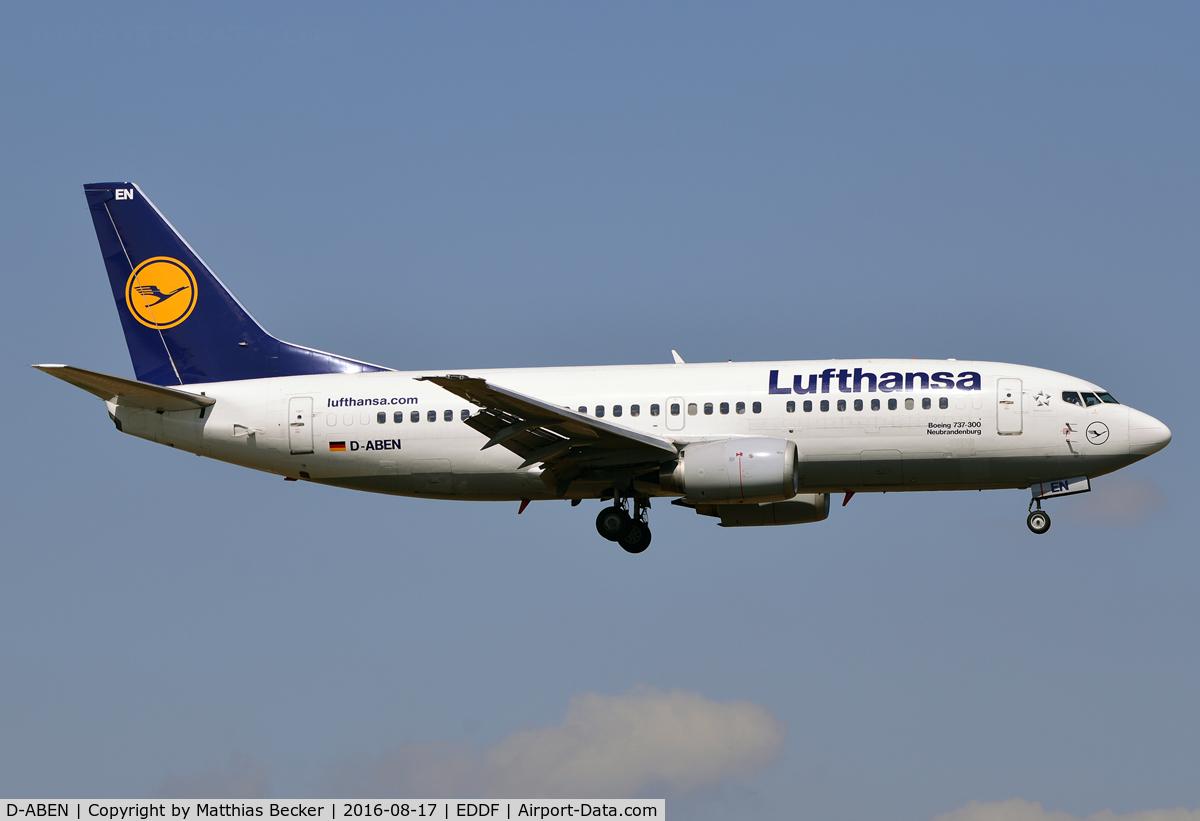 D-ABEN, 1991 Boeing 737-330 C/N 26428, D-ABEN