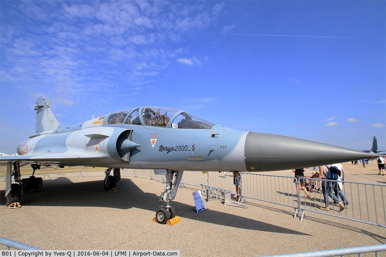 B01, Dassault Mirage 2000B C/N B01, Dassault Mirage 2000B, Displayed at Istres-Le Tubé Air Base 125 (LFMI-QIE) open day 2016