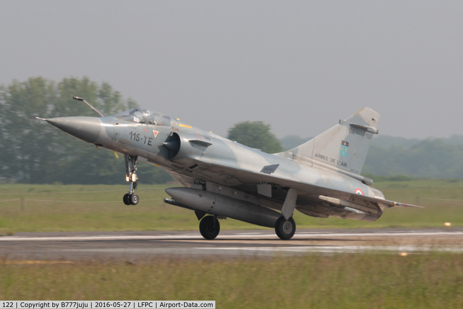 122, Dassault Mirage 2000C C/N 405, at Creil with new code 115-YE