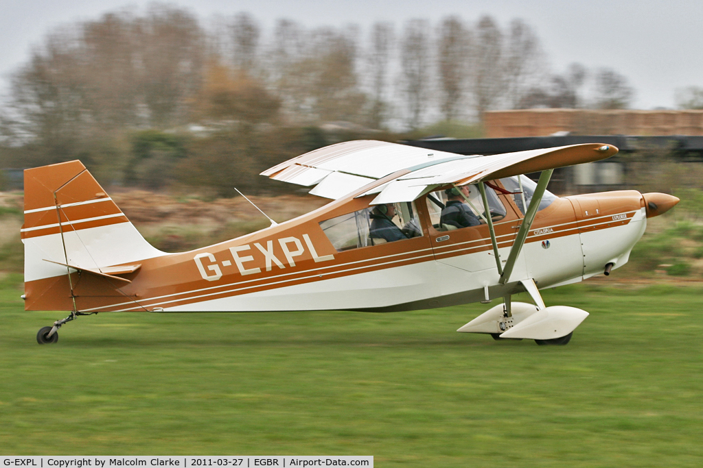 G-EXPL, 1996 Champion 7GCBC Explorer C/N 1220-96, Champion 7GCBC Citabria at Breighton Airfield on March 27th 2011.