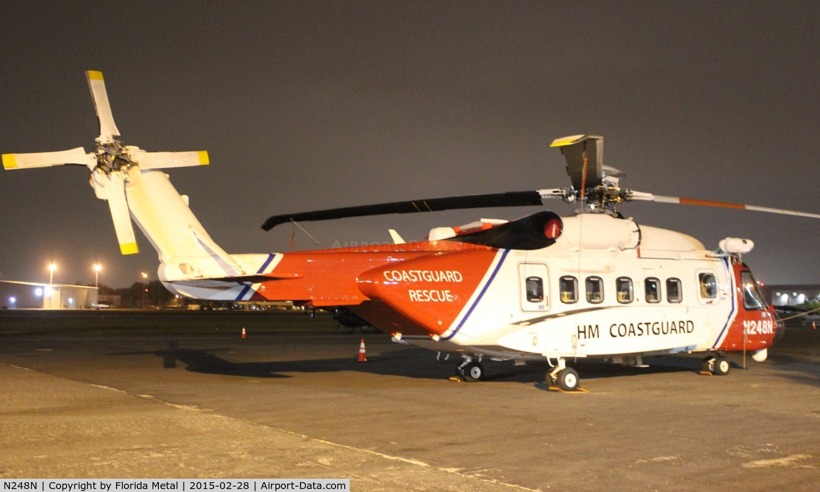 N248N, 2014 Sikorsky S-92A C/N 920248, HMS Coast Guard (UK) S-92