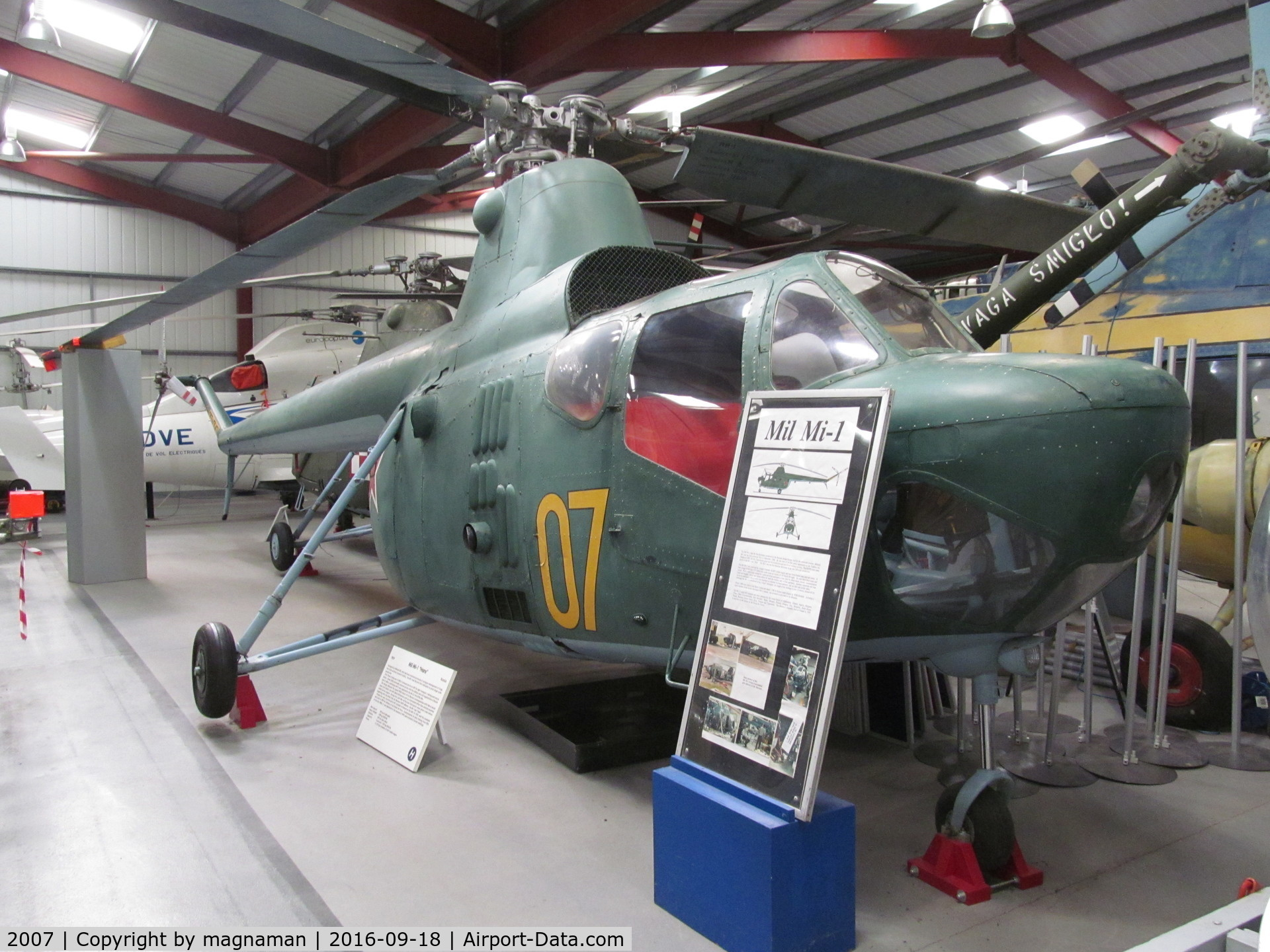 2007, Mil Mi-1 C/N S112007, nice eastern Europe contingent at this museum