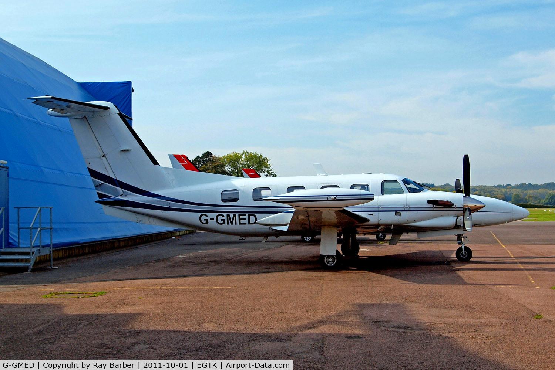G-GMED, 1990 Piper PA-42-720 Cheyenne III C/N 42-5501050, Piper PA-42-720 Cheyenne IIIA [42-5501050] (Air Medical) Oxford-Kidlington~G 01/10/2011