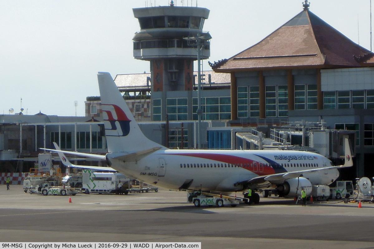 9M-MSG, 2013 Boeing 737-8H6 C/N 40149, At Bali