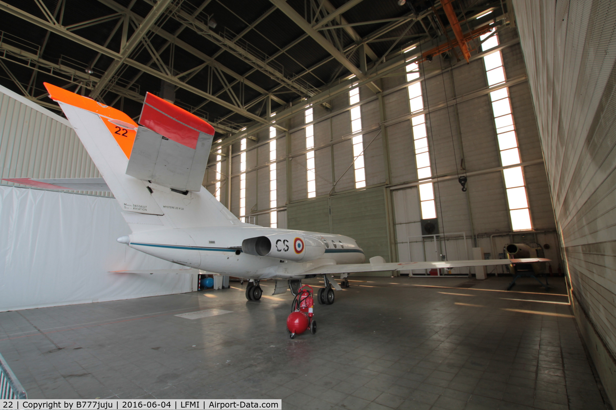 22, Dassault Falcon (Mystere) 20 C/N 22, at Istres