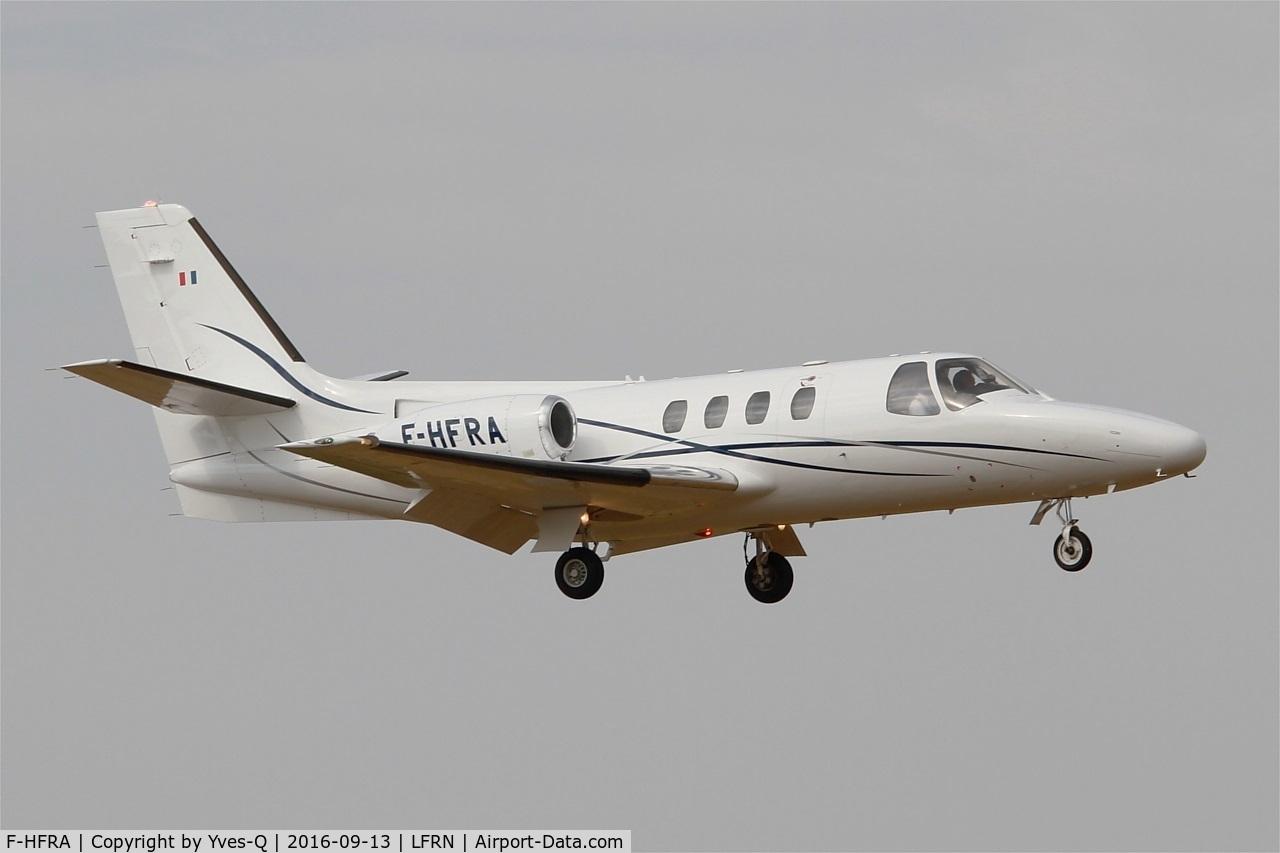 F-HFRA, 1978 Cessna 501 Citation 1/SP C/N 501-0044, Cessna 501 Citation, Short approach rwy 10, Rennes St Jacques airport (LFRN-RNS)