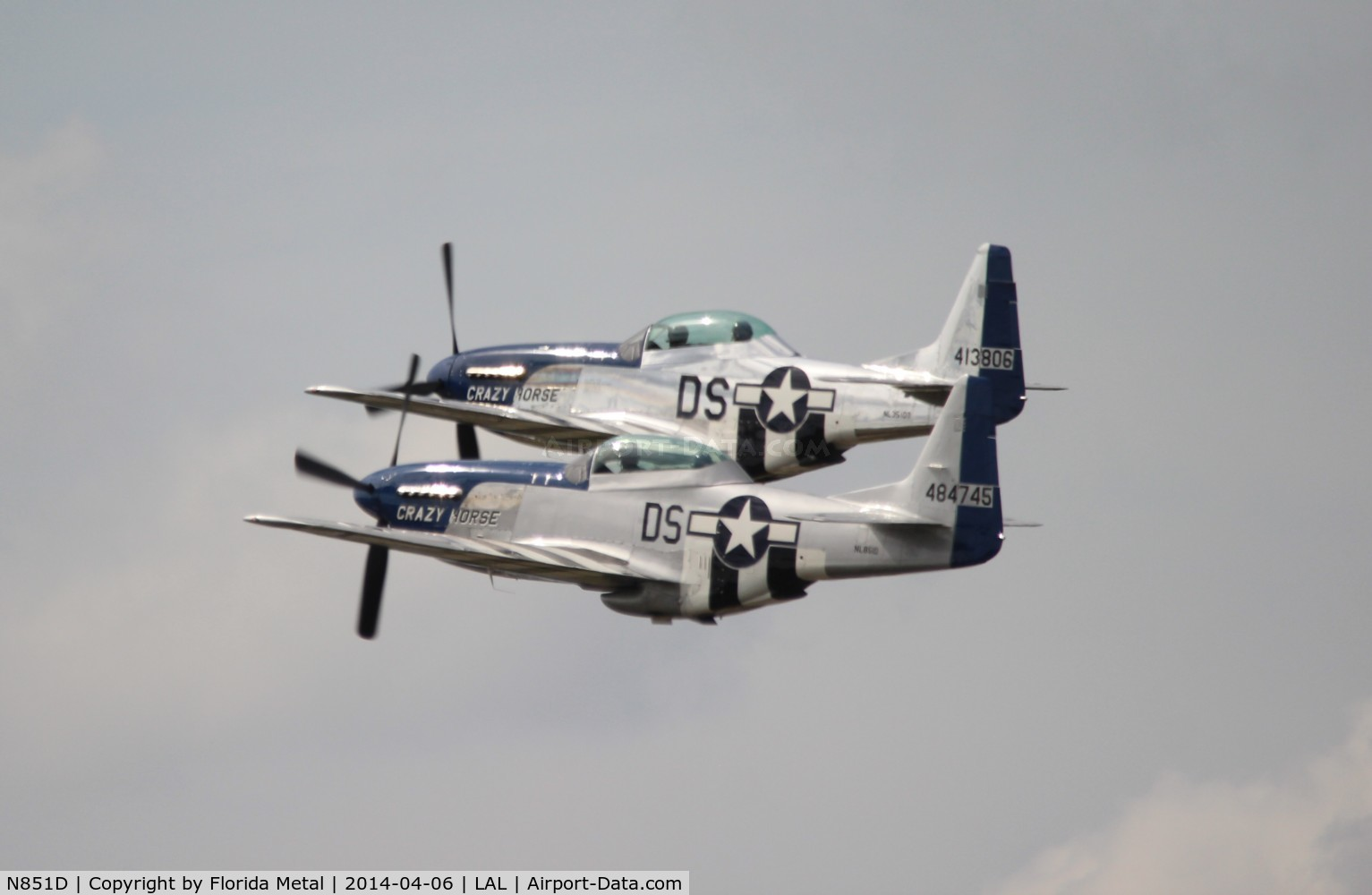 N851D, 1944 North American P-51D Mustang C/N 44-84745, The 2 Crazy Horses