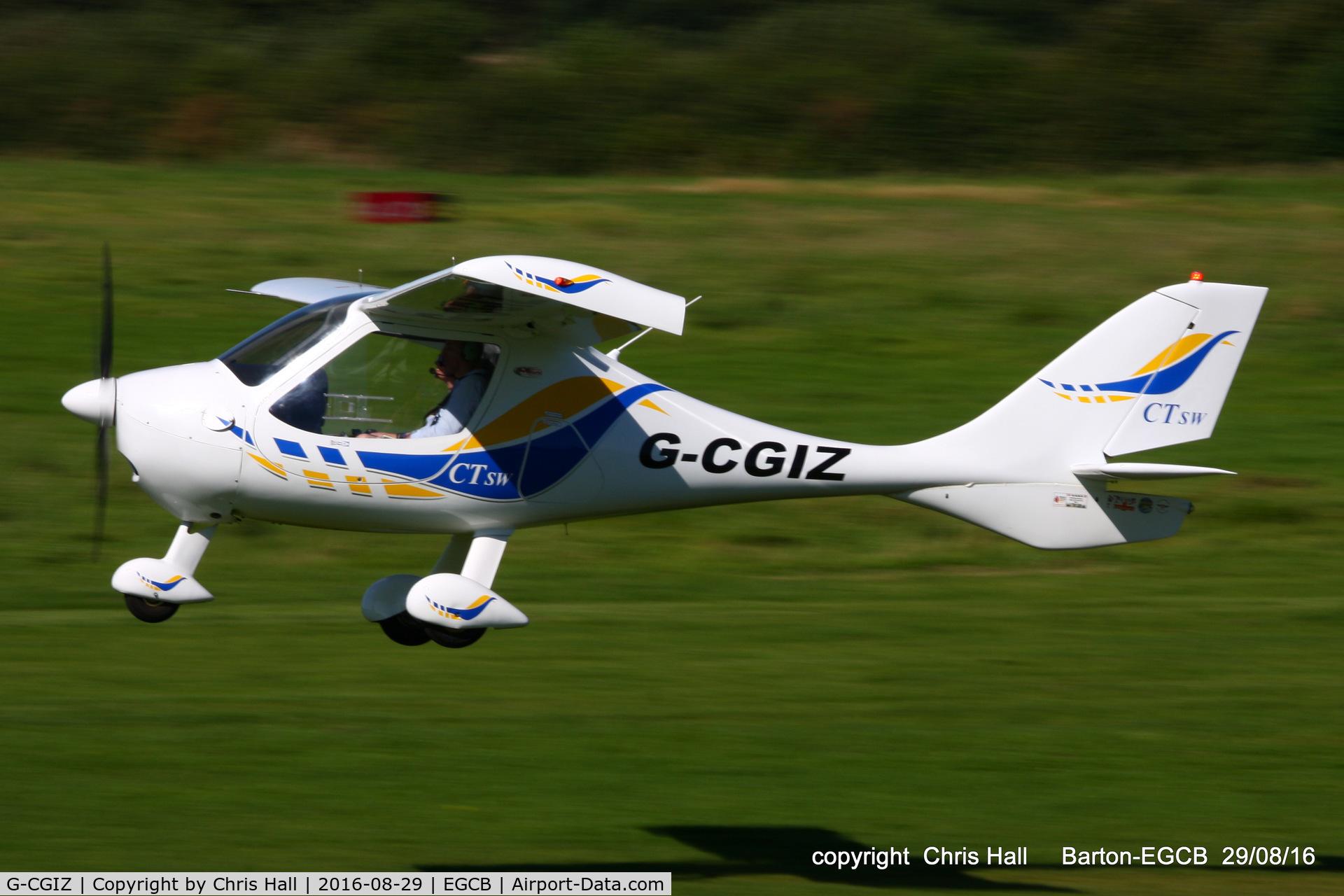 G-CGIZ, 2010 Flight Design CTSW C/N 8512, at Barton