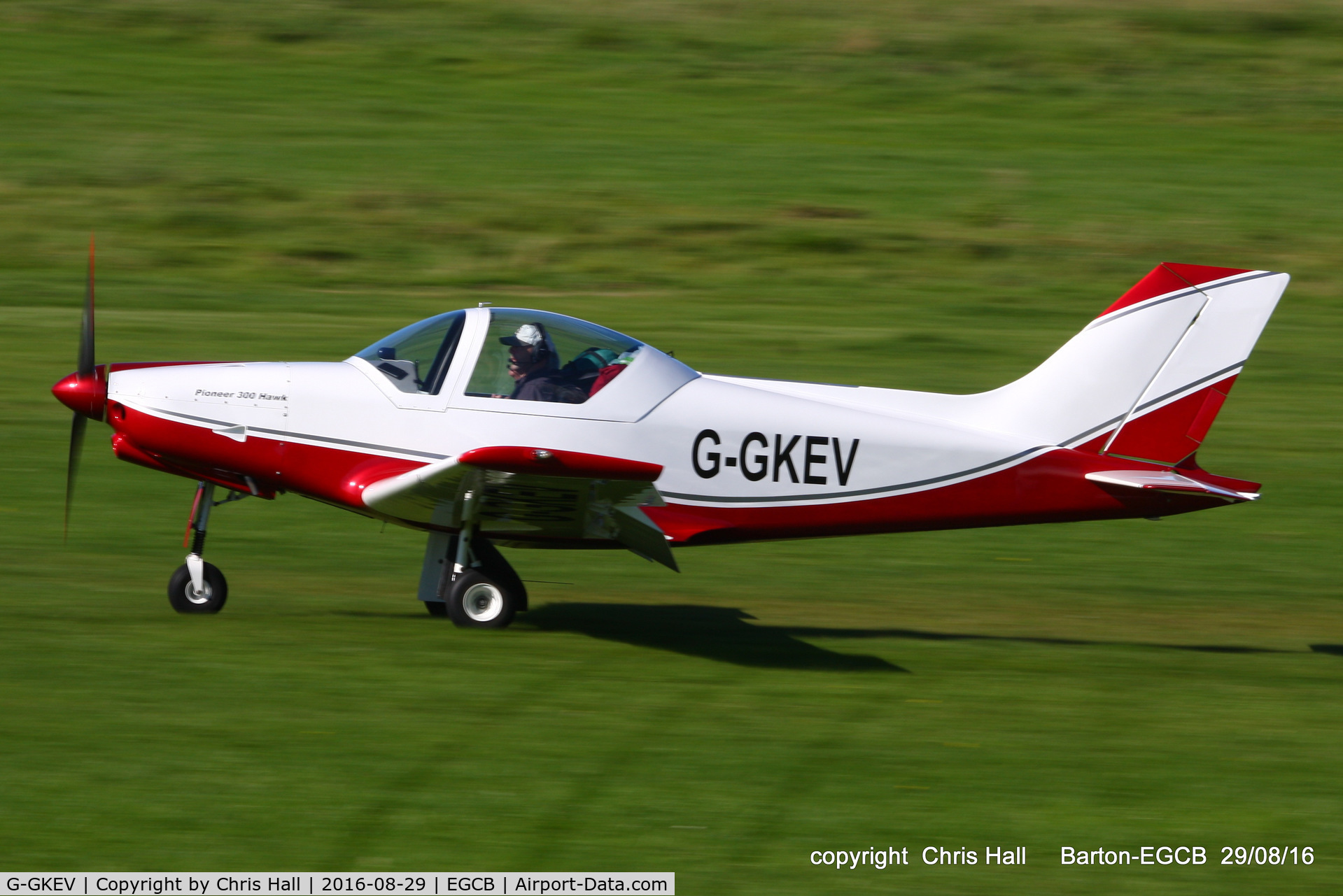 G-GKEV, 2010 Alpi Aviation Pioneer 300 Hawk C/N LAA 330A-14965, at Barton