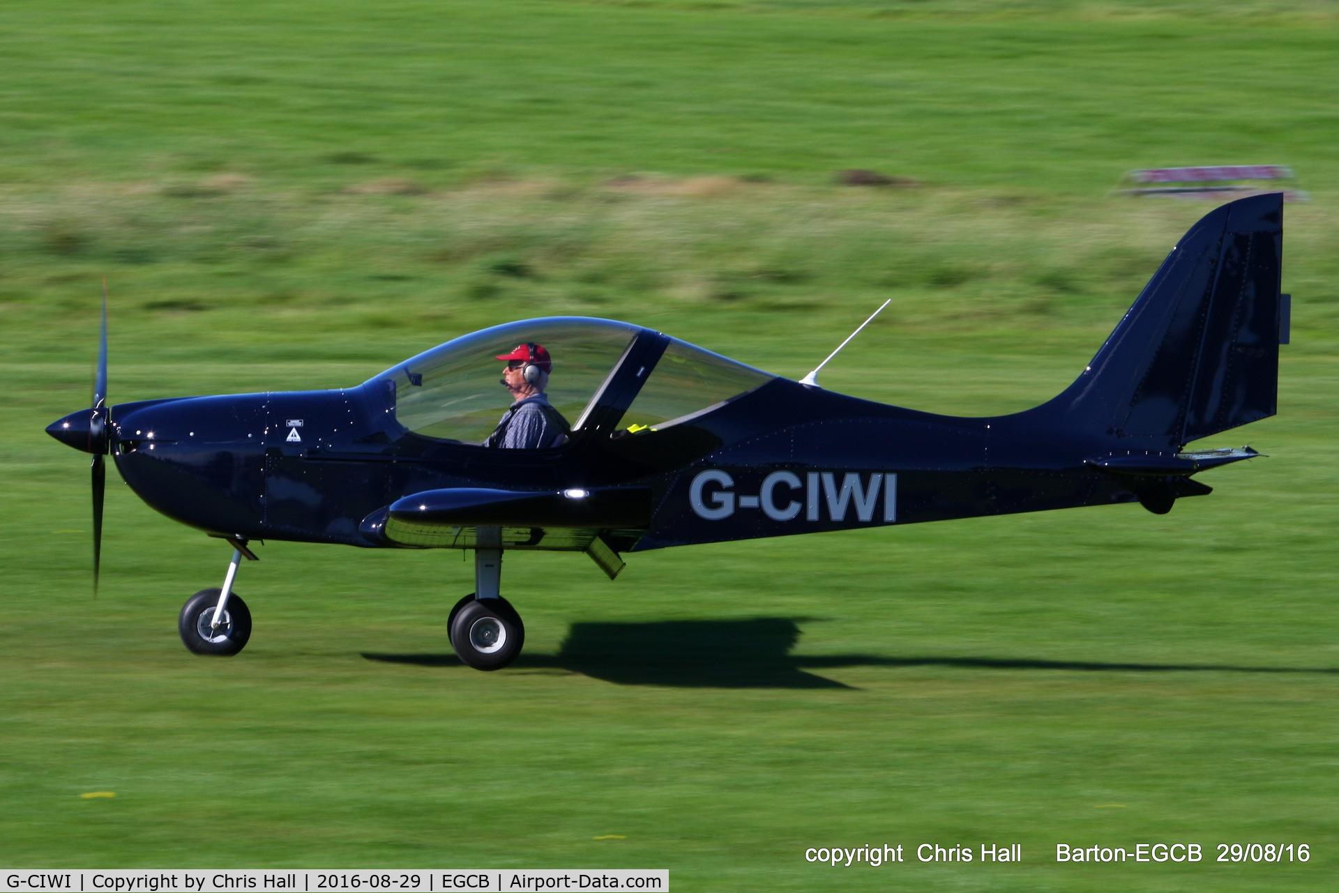 G-CIWI, 2015 Evektor EV-97 Eurostar SL C/N 2015-4227, at Barton