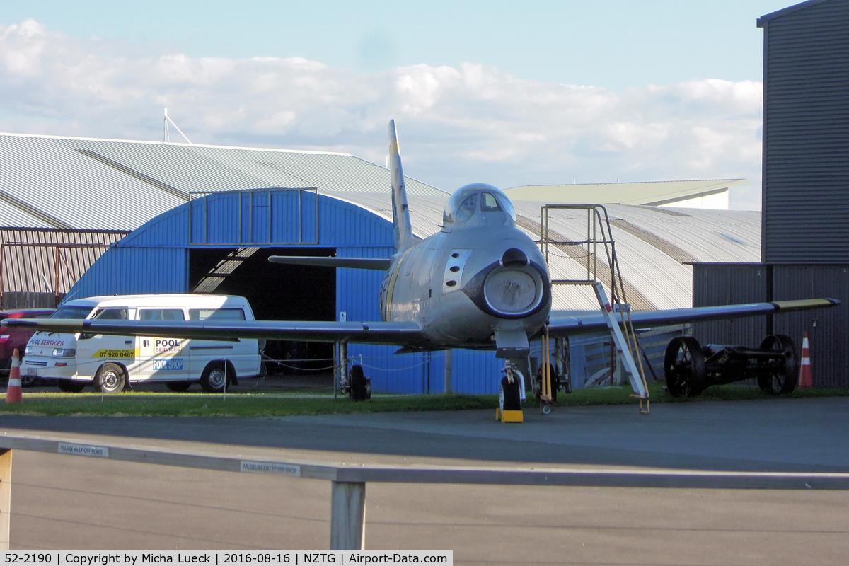 52-2190, 1952 North American F-86F Sabre C/N 191-269, At Tauranga