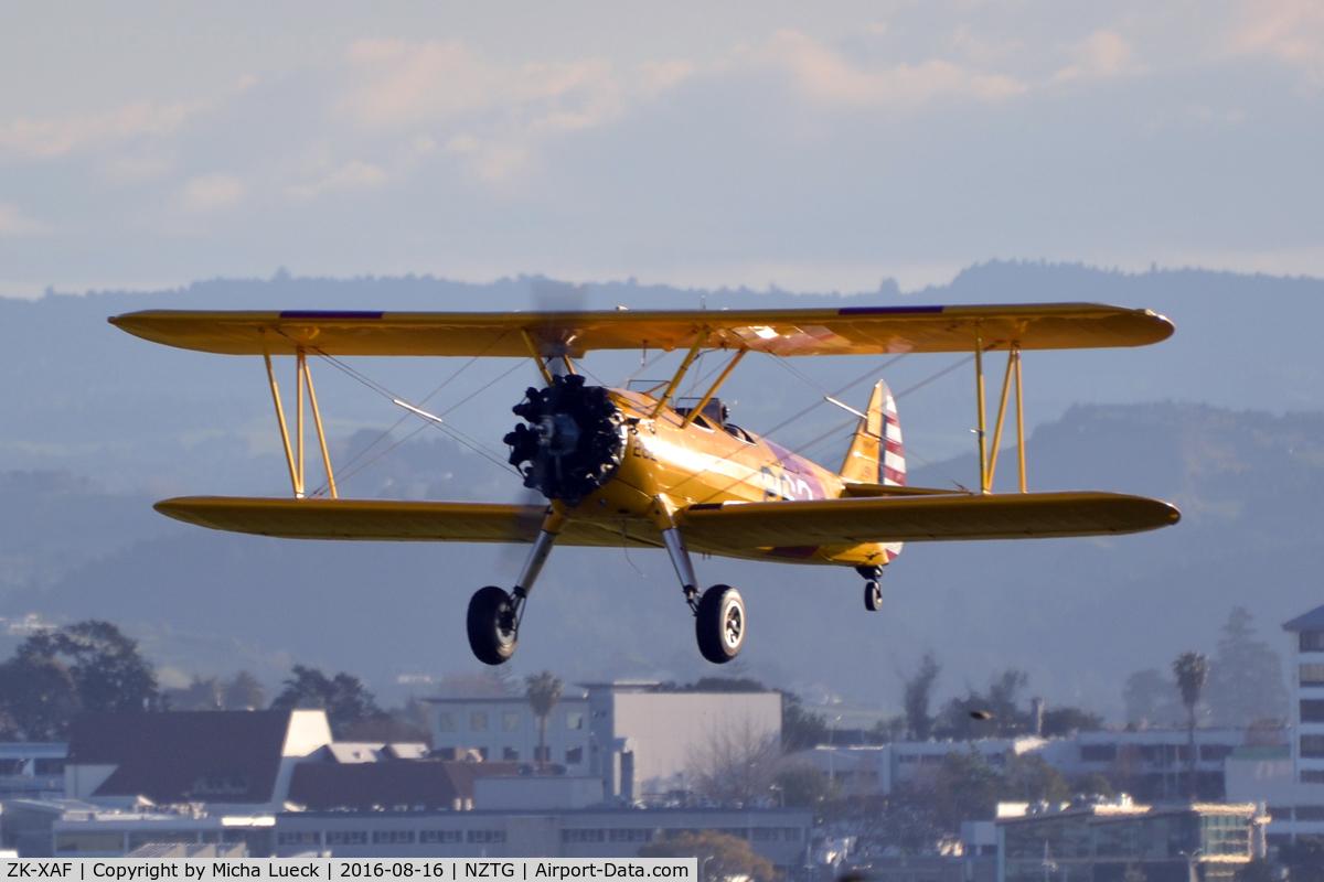 ZK-XAF, Boeing PT-13D Kaydet (E75) C/N 75-5907, At Tauranga