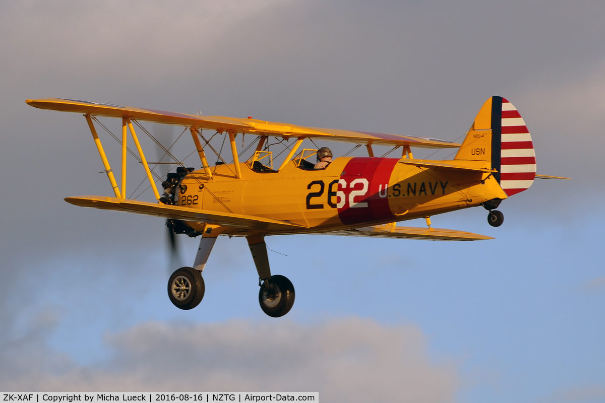 ZK-XAF, Boeing PT-13D Kaydet (E75) C/N 75-5907, Amazing evening light