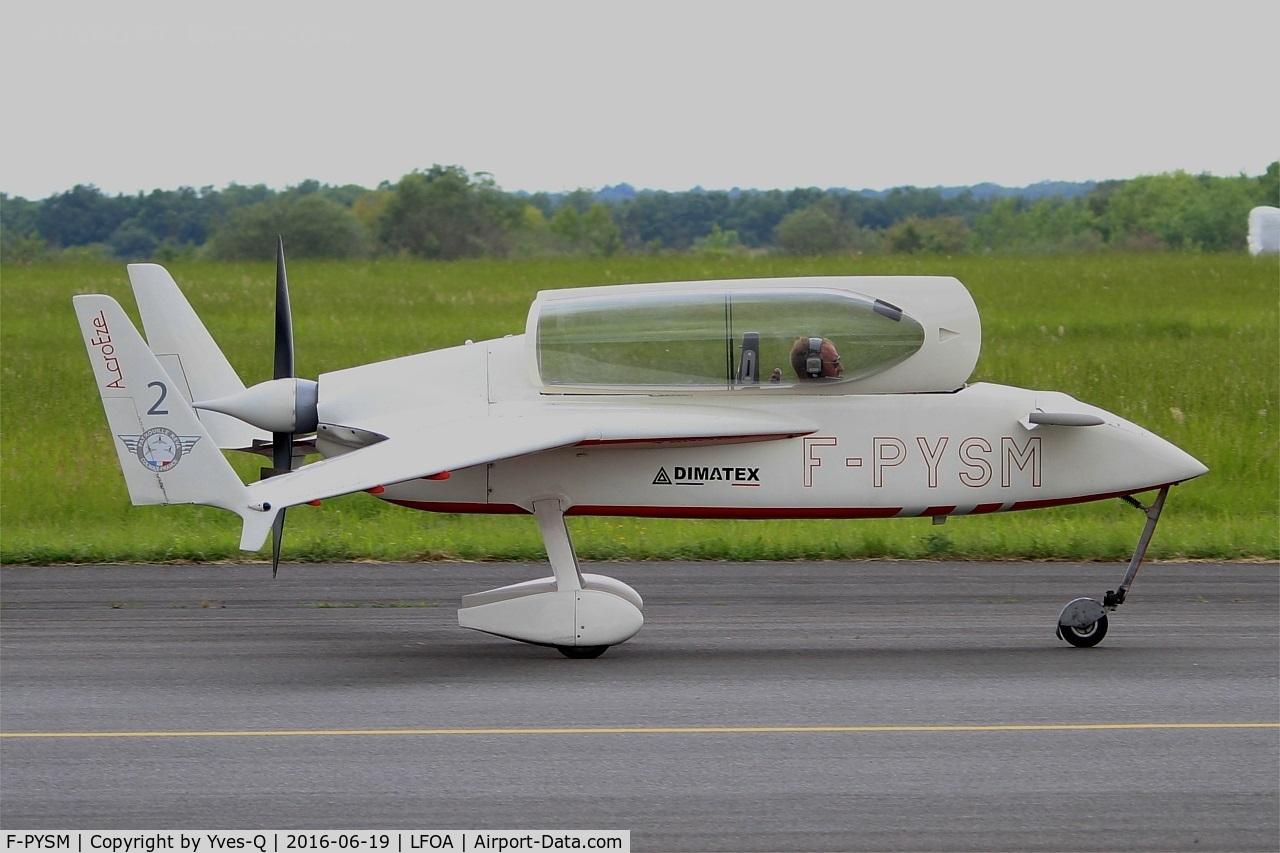 F-PYSM, Rutan VariEze C/N 2048, Rutan VariEze, Taxiing to holding point rwy 24, Avord Air Base 702 (LFOA) Open day 2016