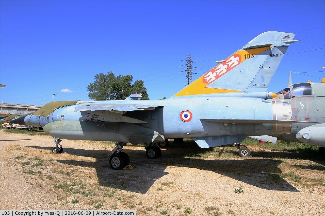 103, Dassault Mirage F.1C C/N 103, Dassault Mirage F.1C, preserved at