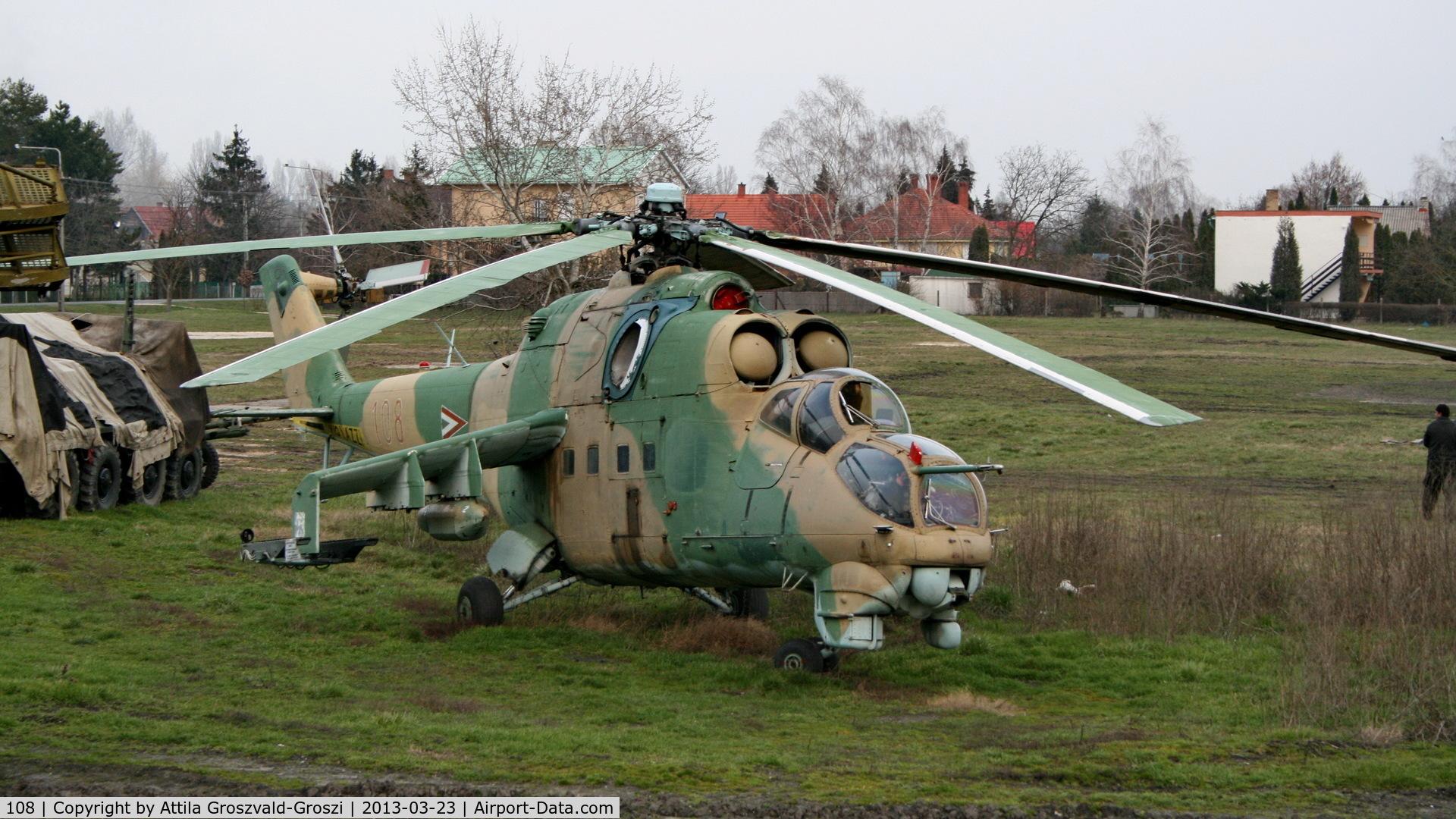 108, 1980 Mil Mi-24D Hind C/N K20108, Zamárdi, military technology collection. Hungary