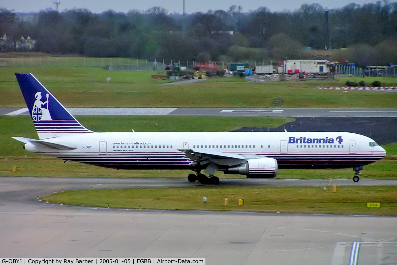G-OBYJ, 2000 Boeing 767-304 C/N 29384, Boeing 767-304ER [29384] (Britannia Airways) Birmingham Int'l~G 05/01/2005