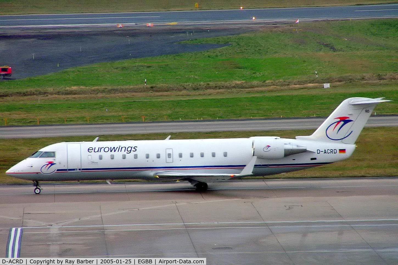 D-ACRD, Canadair CRJ-200ER (CL-600-2B19) C/N 7583, Canadair CRJ-200LR [7583] (Eurowings) Birmingham Int'l~G 25/01/2005