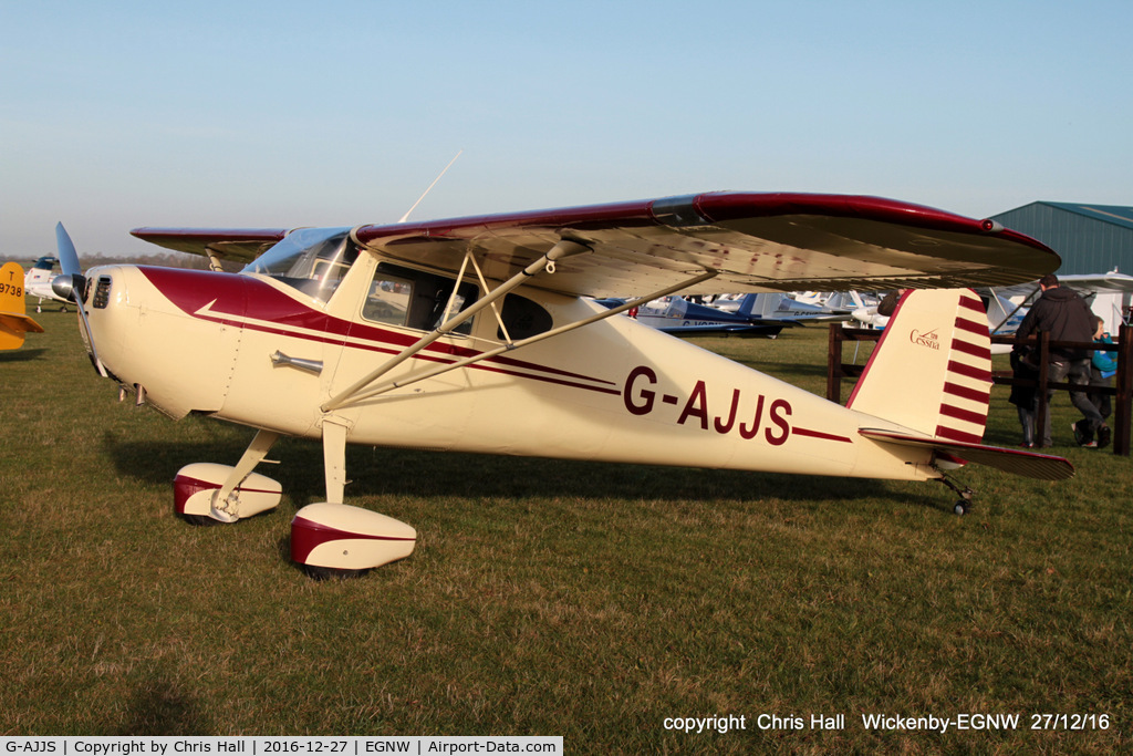 G-AJJS, 1947 Cessna 120 C/N 13047, at the Wickenby