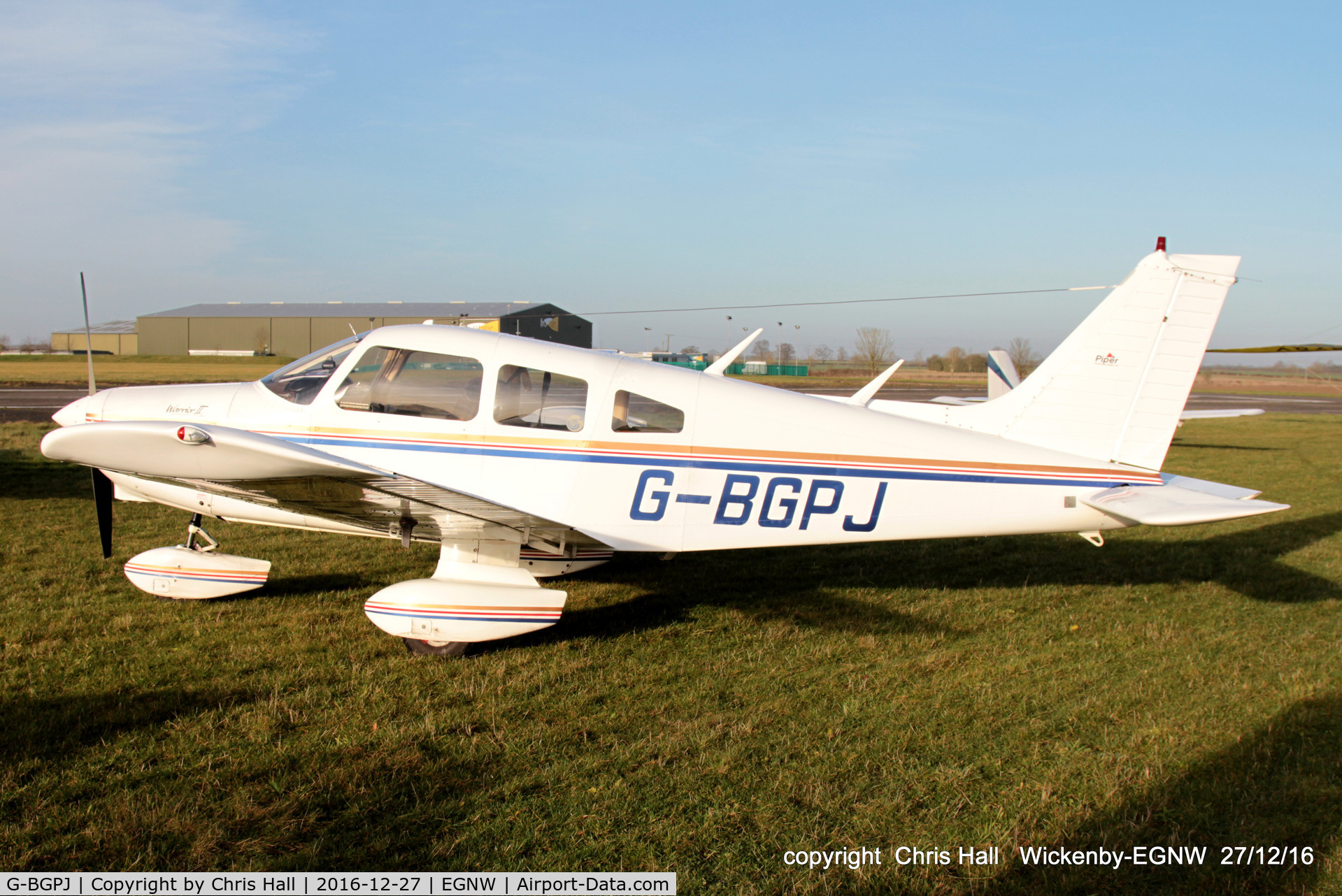 G-BGPJ, 1979 Piper PA-28-161 Cherokee Warrior II C/N 28-7916288, at the Wickenby