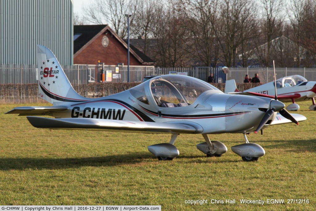 G-CHMW, 2013 Aerotechnik EV-97 Eurostar SL C/N LAA 315B-15158, at the Wickenby