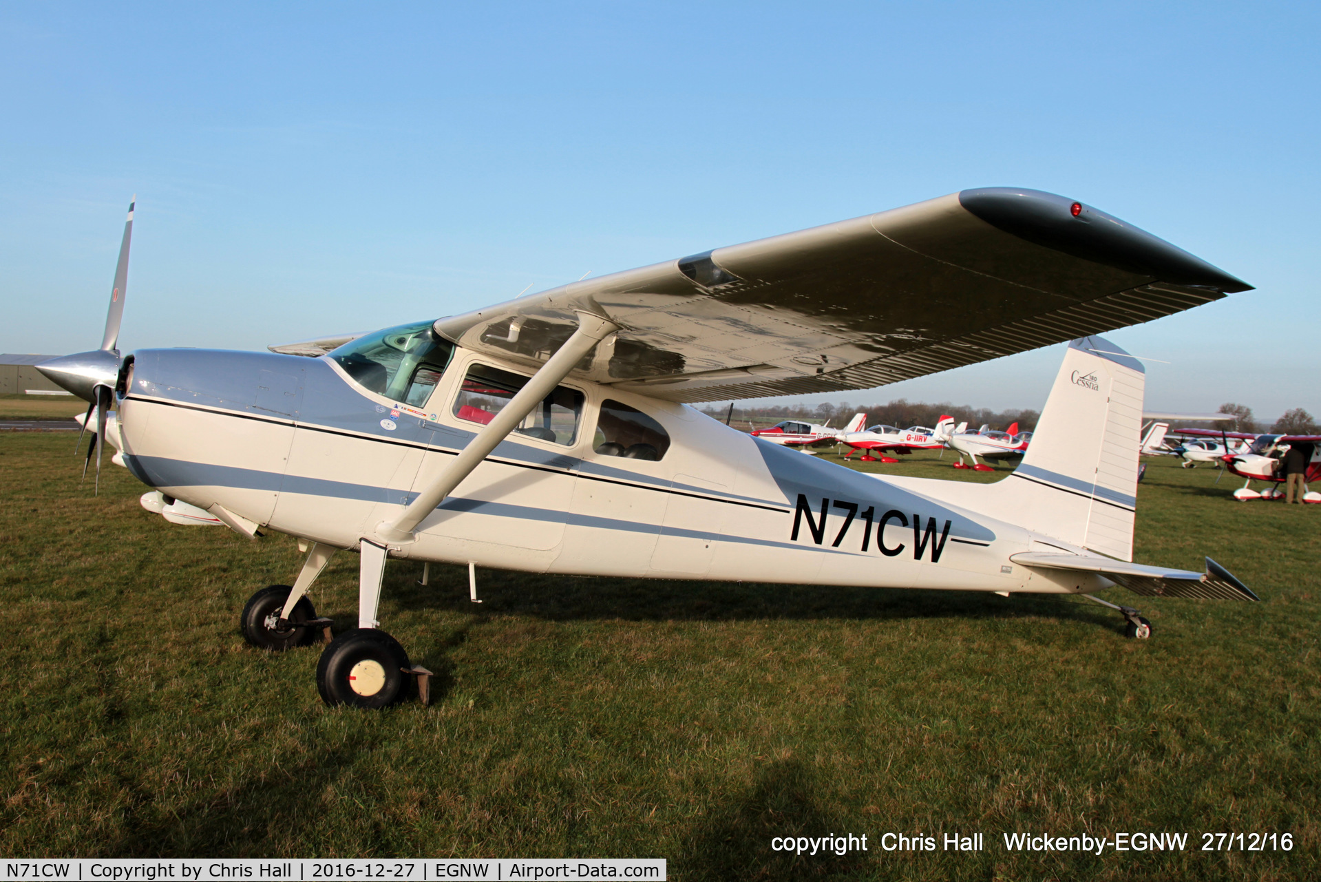 N71CW, Cessna 180E C/N 18051093, at the Wickenby