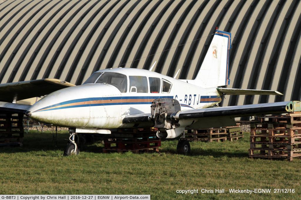 G-BBTJ, 1973 Piper PA-23-250 Aztec C/N 27-7305131, at Wickenby
