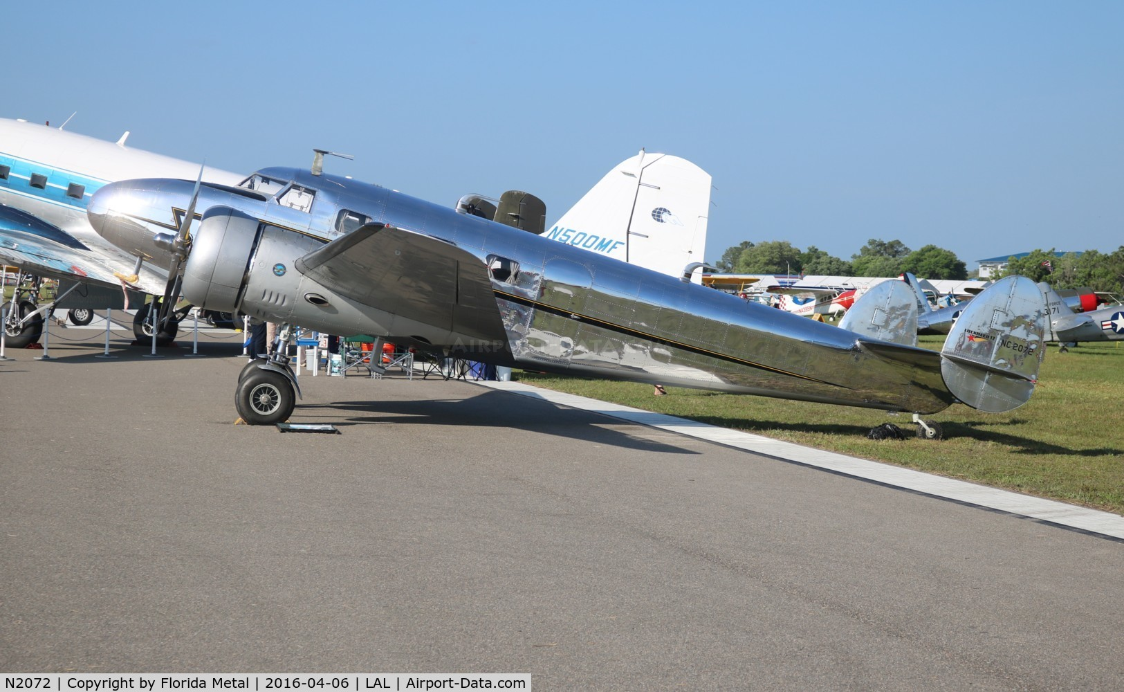 N2072, 1936 Lockheed 12A Electra Junior C/N 1208, Lockheed 12A