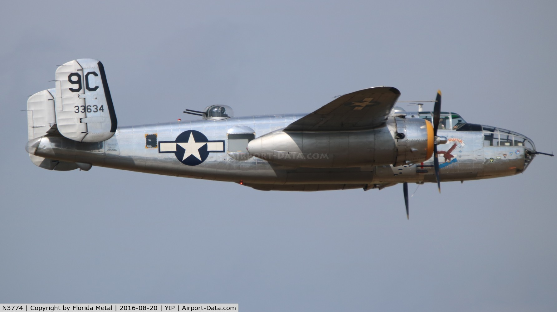 N3774, 1943 North American B-25D Mitchell C/N 100-23960, Yankee Warrior