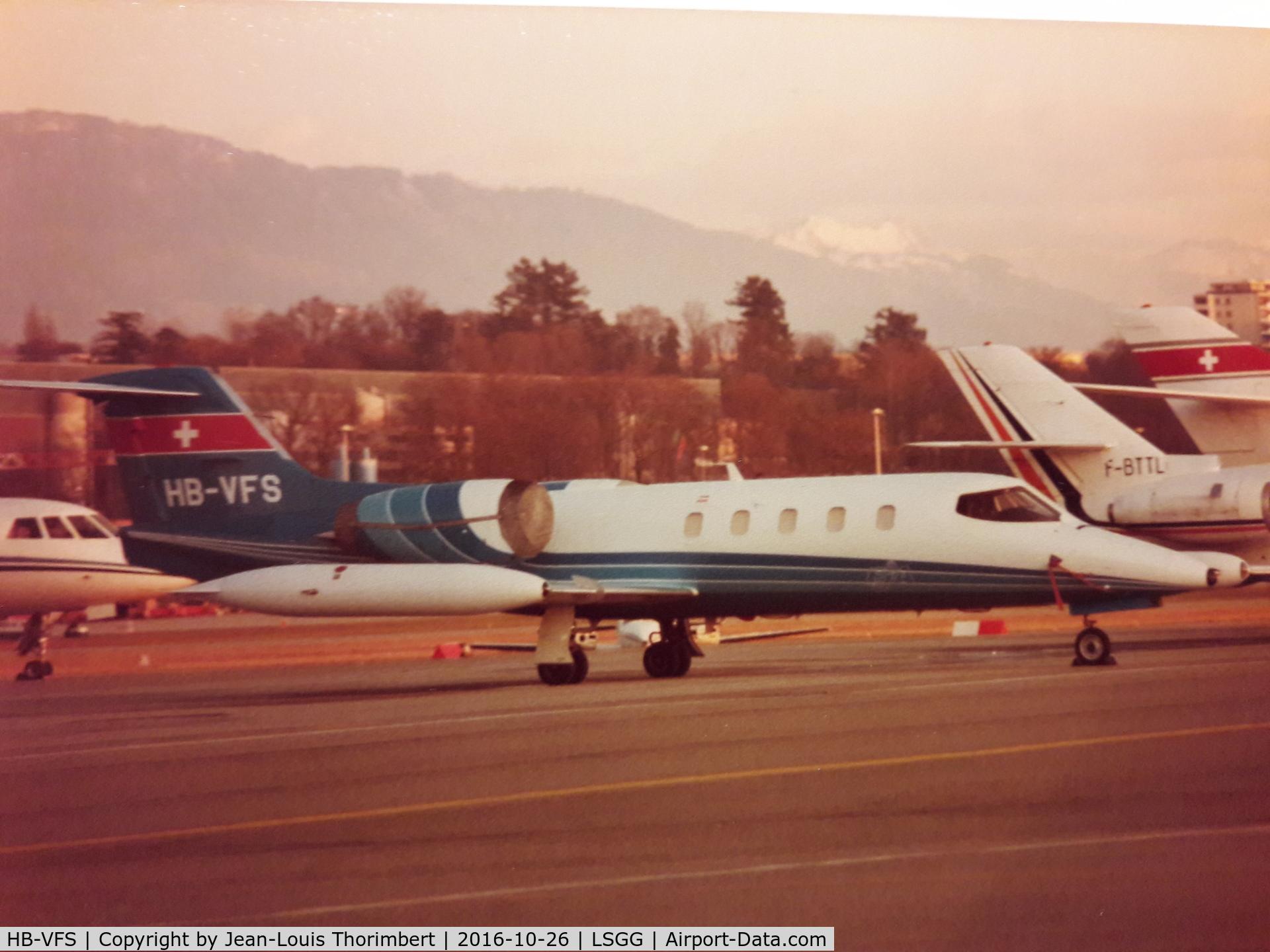 HB-VFS, 1978 Learjet 36A C/N 042, Learjet 36A, Cointrin (LSGG-GVA), approximately 1980