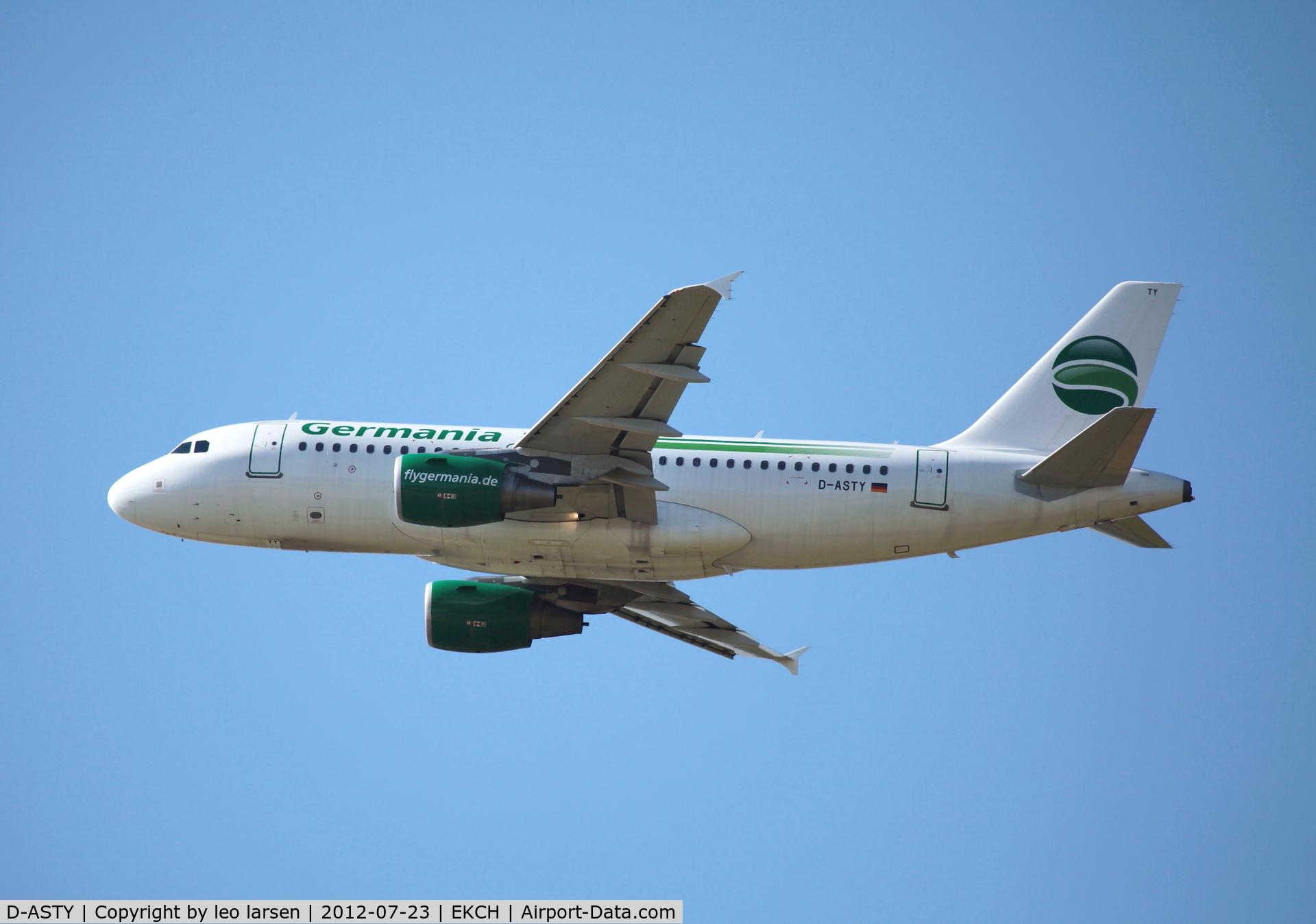 D-ASTY, 2008 Airbus A319-112 C/N 3407, Copenhagen 23.7.2012