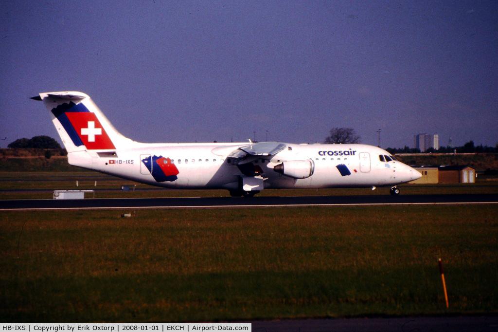HB-IXS, 1995 British Aerospace Avro 146-RJ100 C/N E3280, HB-IXS in CPH SEP99