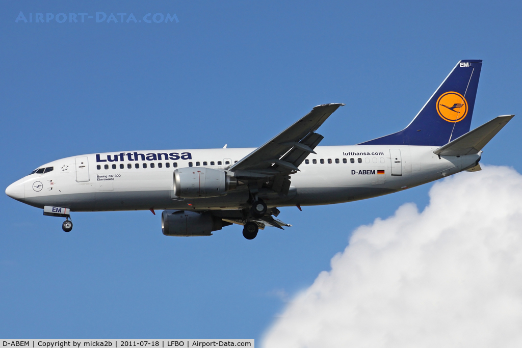 D-ABEM, 1991 Boeing 737-330 C/N 25416, Landing