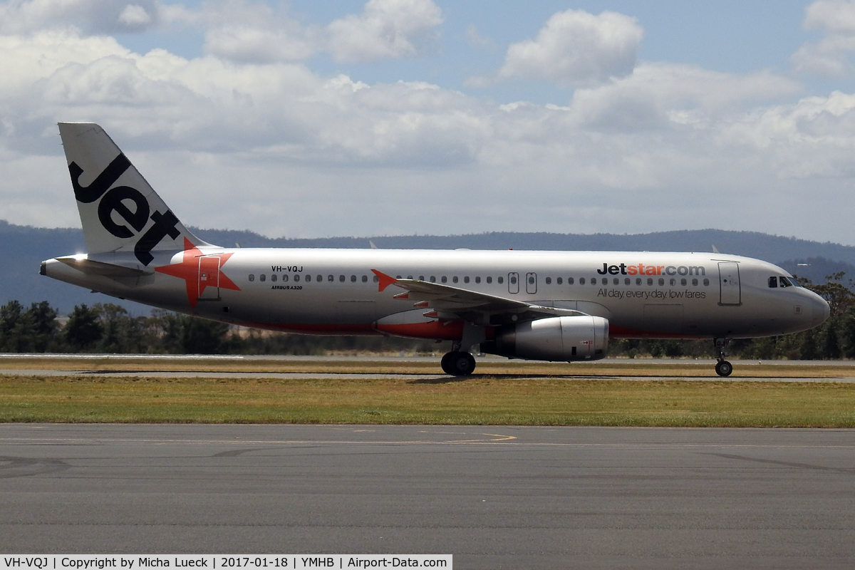 VH-VQJ, 2006 Airbus A320-232 C/N 2703, At Hobart