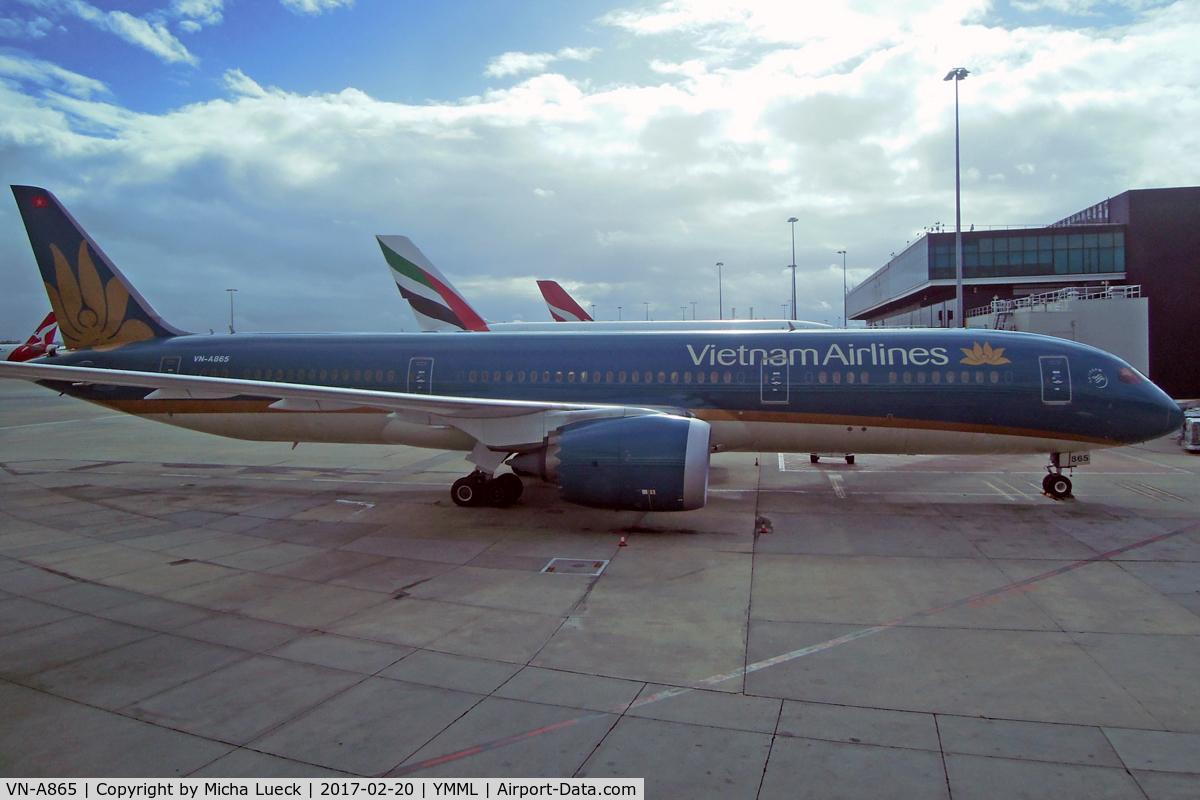 VN-A865, 2015 Boeing 787-9 Dreamliner Dreamliner C/N 38761, At Tullamarine