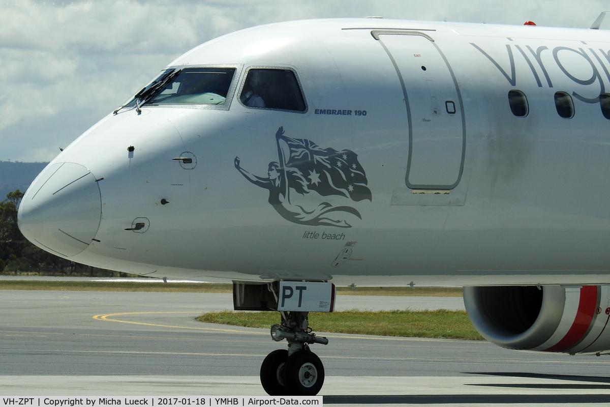 VH-ZPT, 2011 Embraer 190AR (ERJ-190-100IGW) C/N 19000451, At Hobart