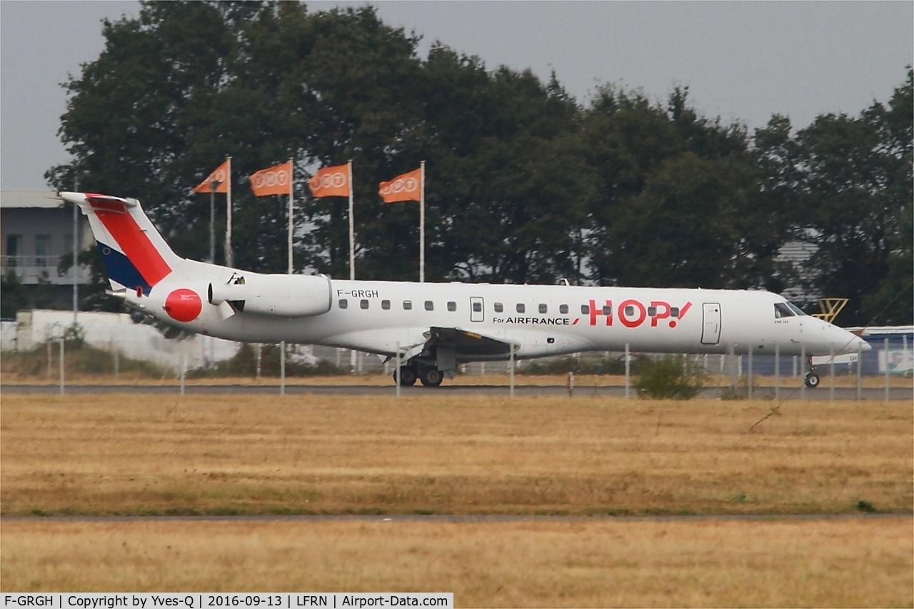 F-GRGH, 1999 Embraer EMB-145EU (ERJ-145EU) C/N 145120, Embraer EMB-145EU, Landing rwy 10, Rennes St Jacques airport (LFRN-RNS)