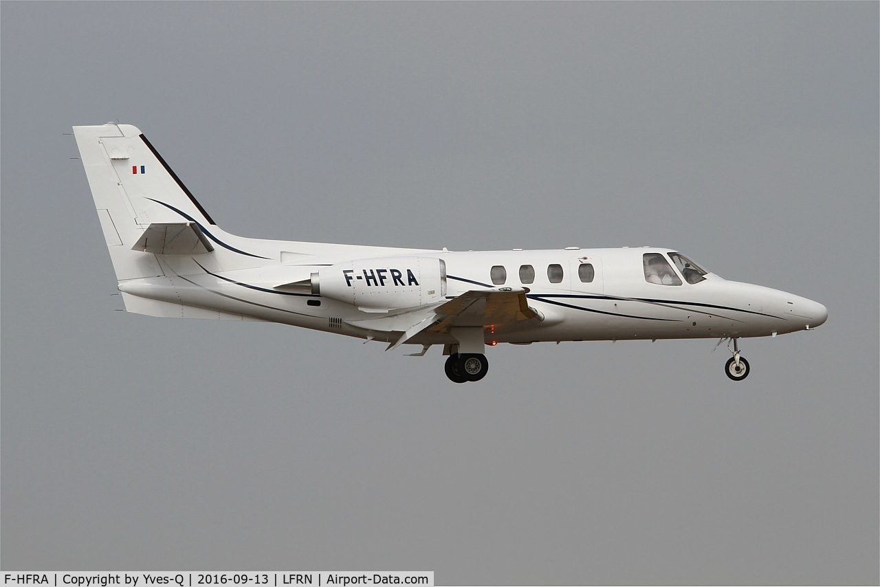 F-HFRA, 1978 Cessna 501 Citation 1/SP C/N 501-0044, Cessna 501 Citation, On final rwy 10, Rennes St Jacques airport (LFRN-RNS)