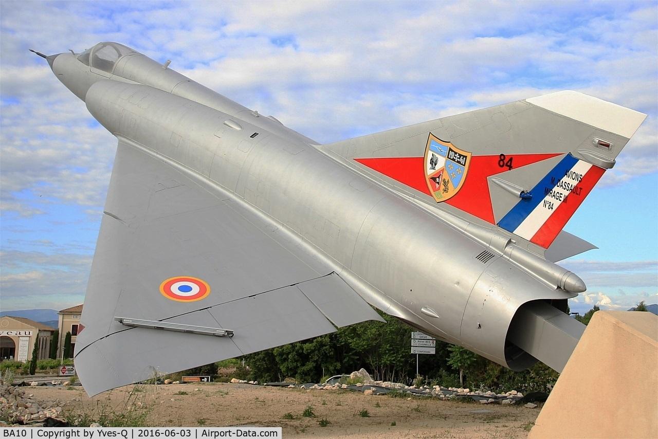 BA10, SABCA Mirage 5BA C/N 10, Mirage 5BA, Preserved at Orange and transformed into Mirage IIIC n° 84