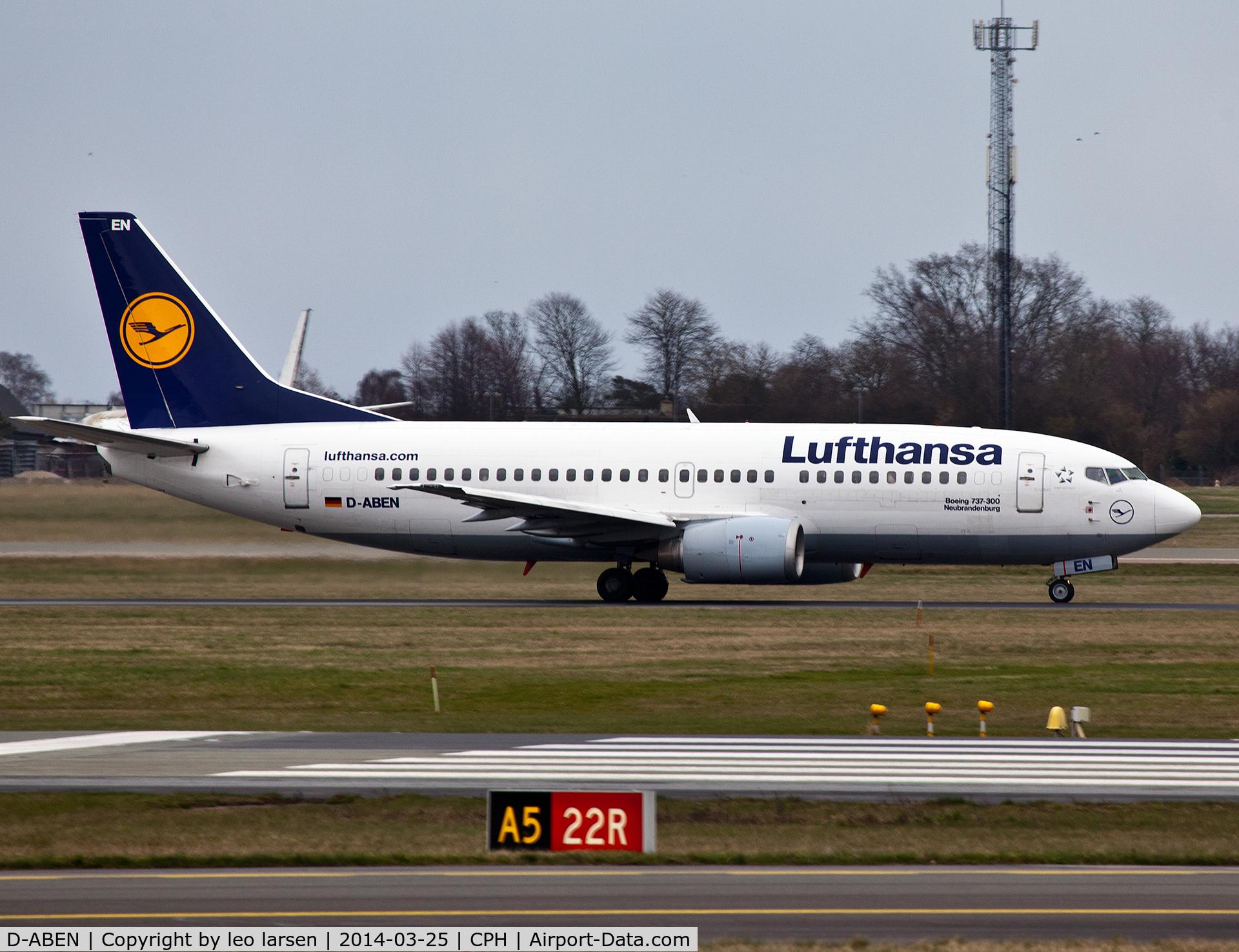 D-ABEN, 1991 Boeing 737-330 C/N 26428, Copenhagen 25.3.2014
