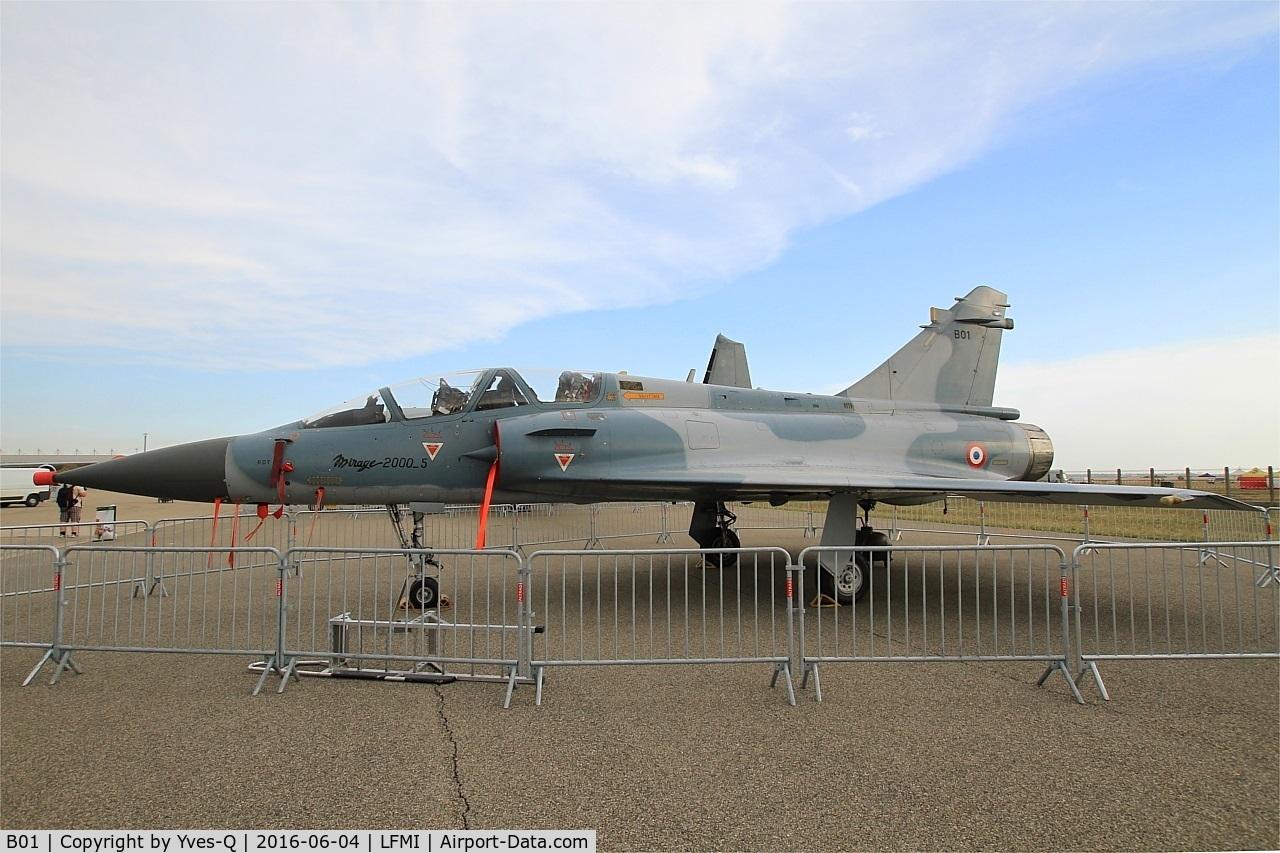 B01, Dassault Mirage 2000-5 C/N B01, Dassault Mirage 2000B, Displayed at Istres-Le Tubé Air Base 125 (LFMI-QIE) open day 2016
