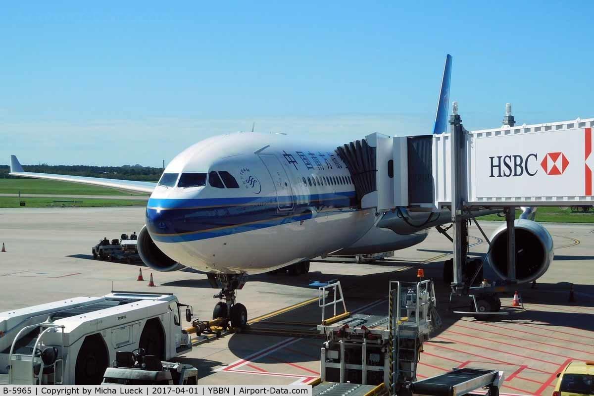 B-5965, 2014 Airbus A330-323 C/N 1593, At Brisbane