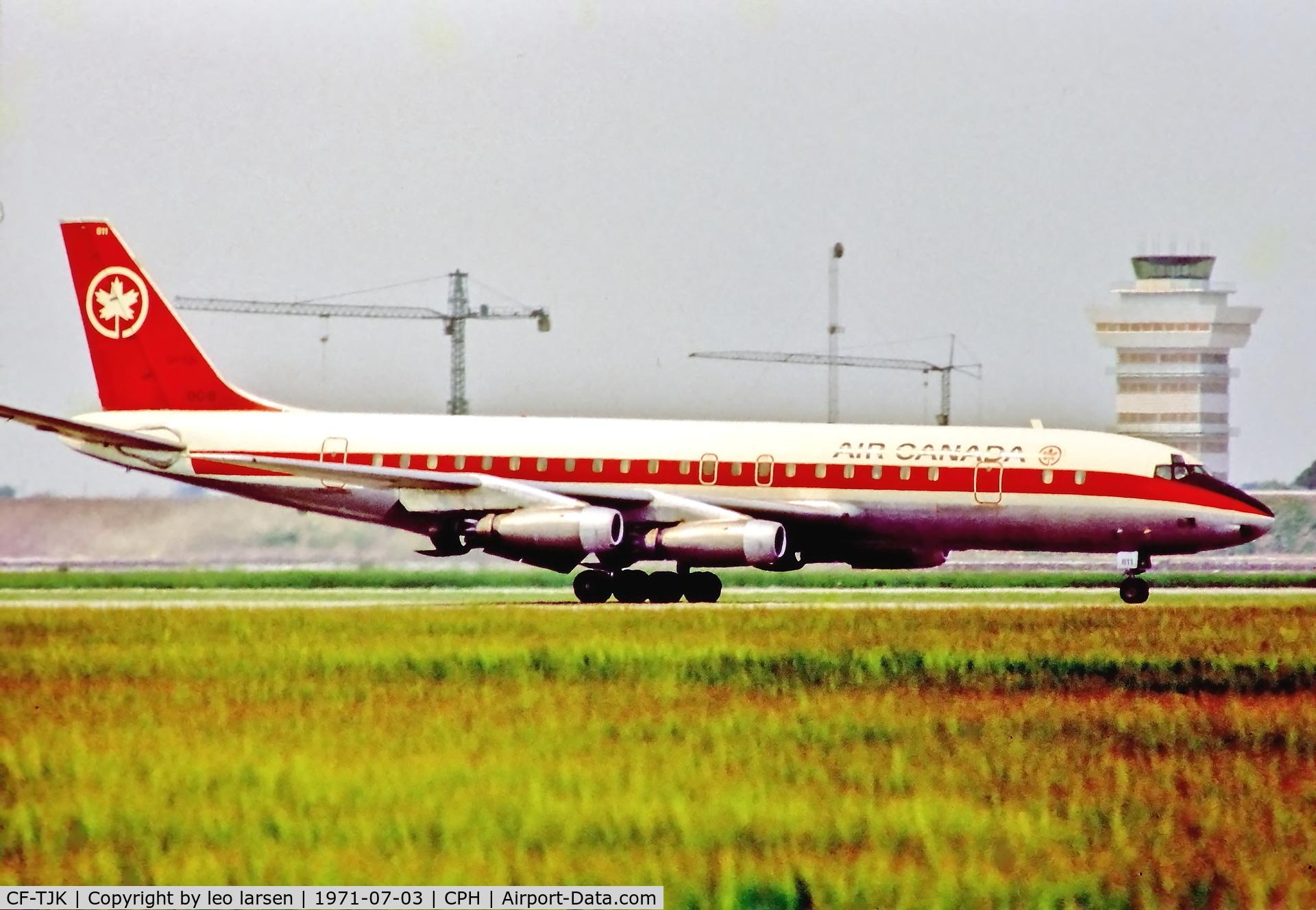 CF-TJK, 1961 Douglas DC-8-43 C/N 45638, Copenhagen 3.7.1971