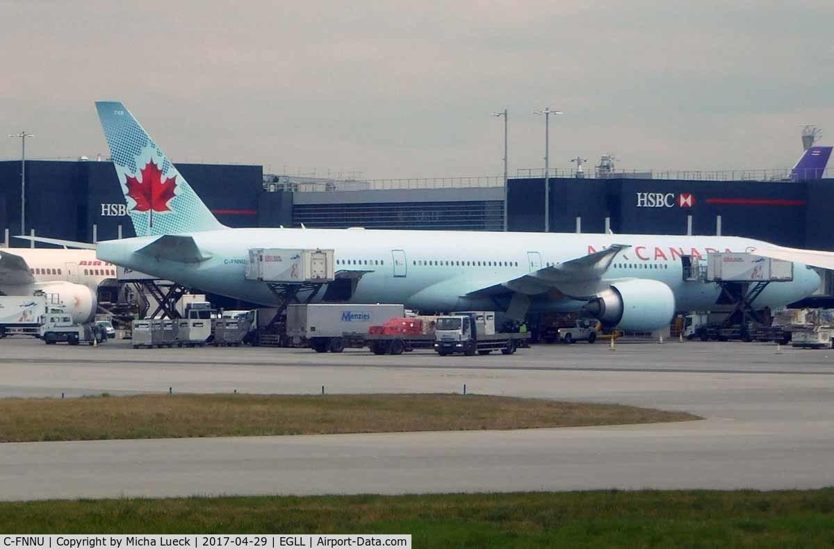 C-FNNU, 2013 Boeing 777-333/ER C/N 43249, At Heathrow