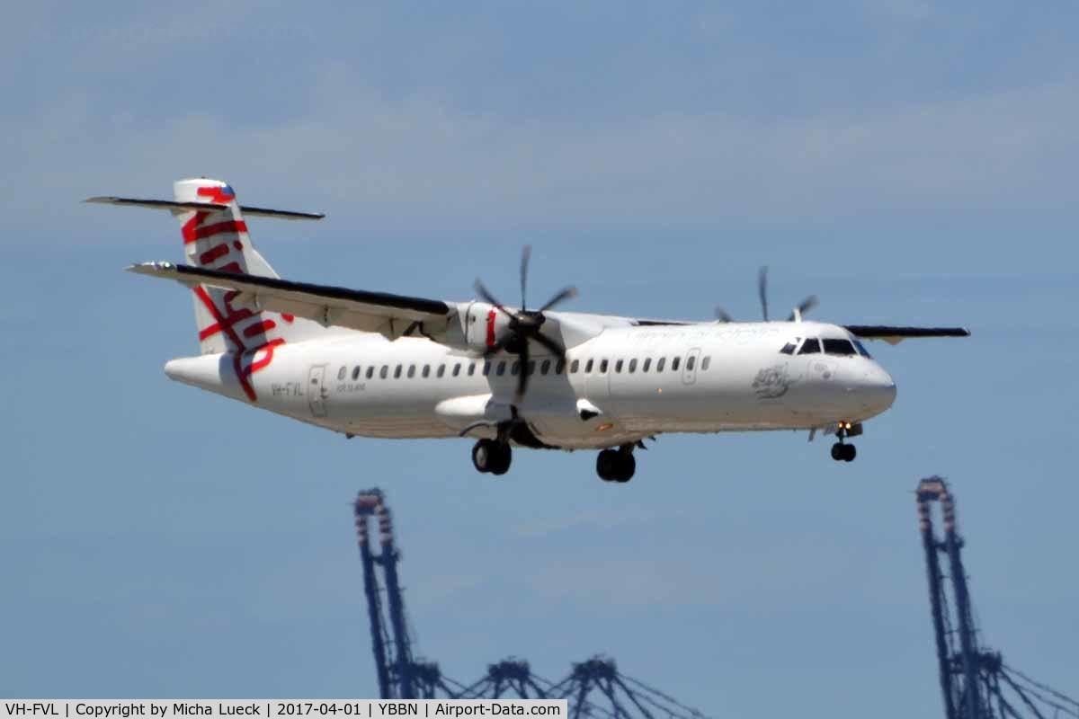 VH-FVL, 2011 ATR 72-212A C/N 974, At Brisbane